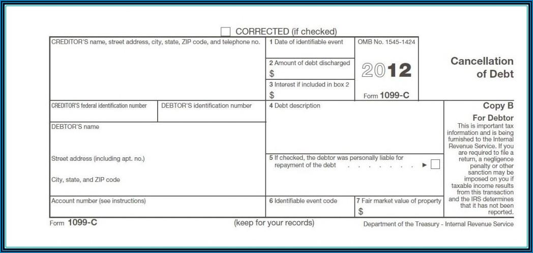 Forgiven Debt Tax Form