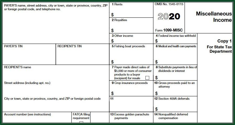 Form 1099 Misc Pdf 2020