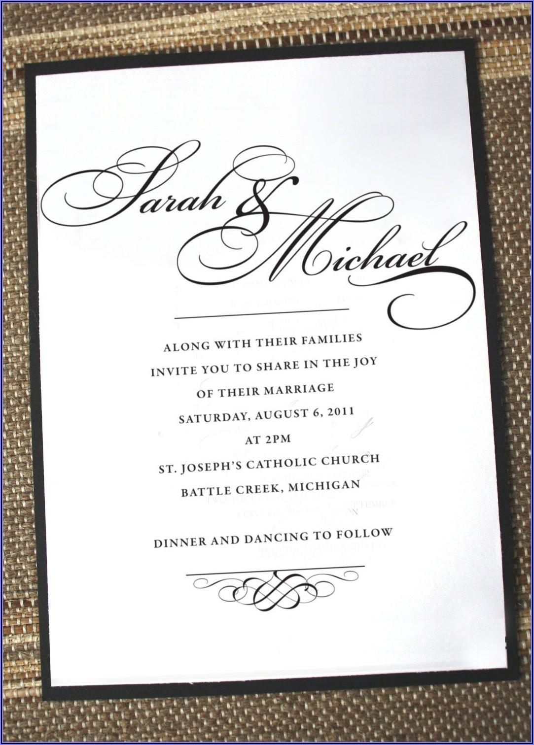 Formal Elegant Wedding Invitations