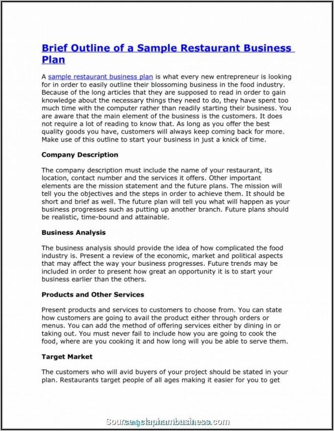Franchise Business Plan Template Doc