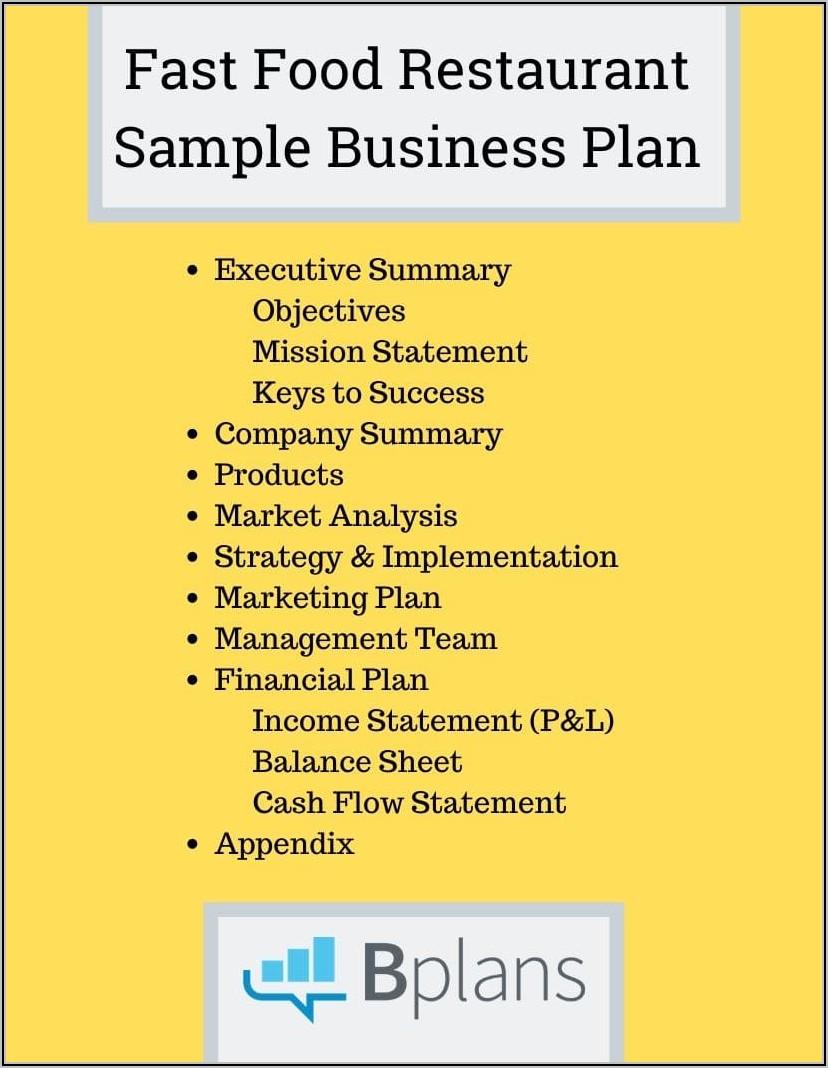 Franchise Business Plan Template Uk