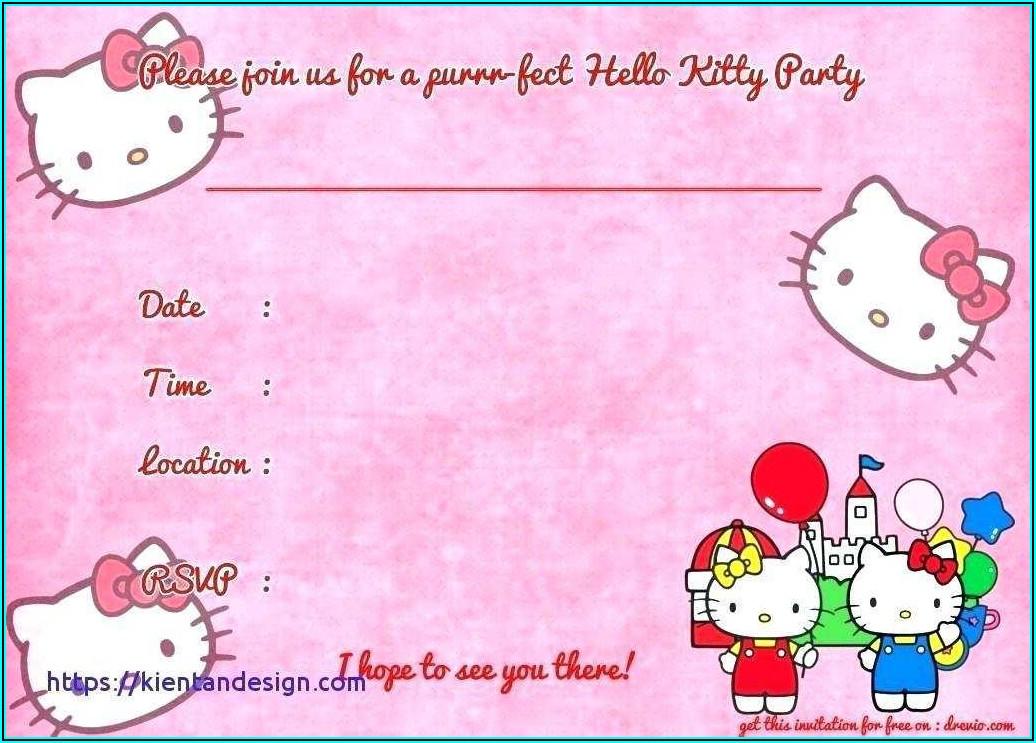 Free Birthday Invitation Card Template Psd