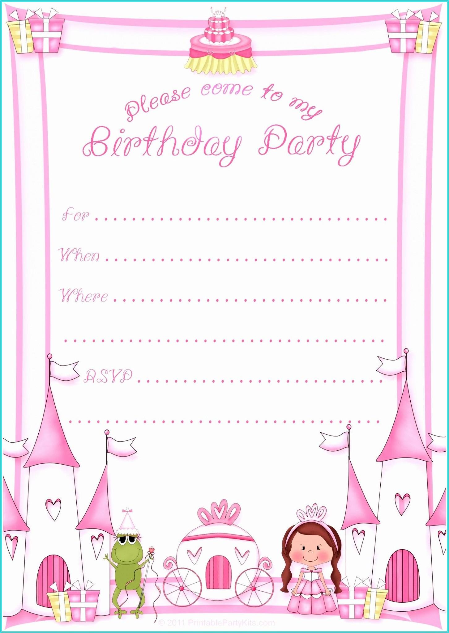 Free Birthday Invitation Cards Download
