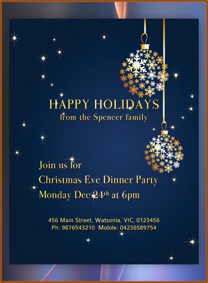 Free Blank Christmas Invitation Templates