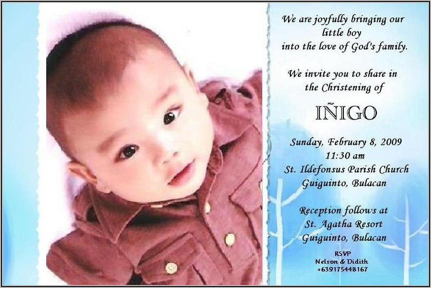 Free Child Dedication Invitation Card Template