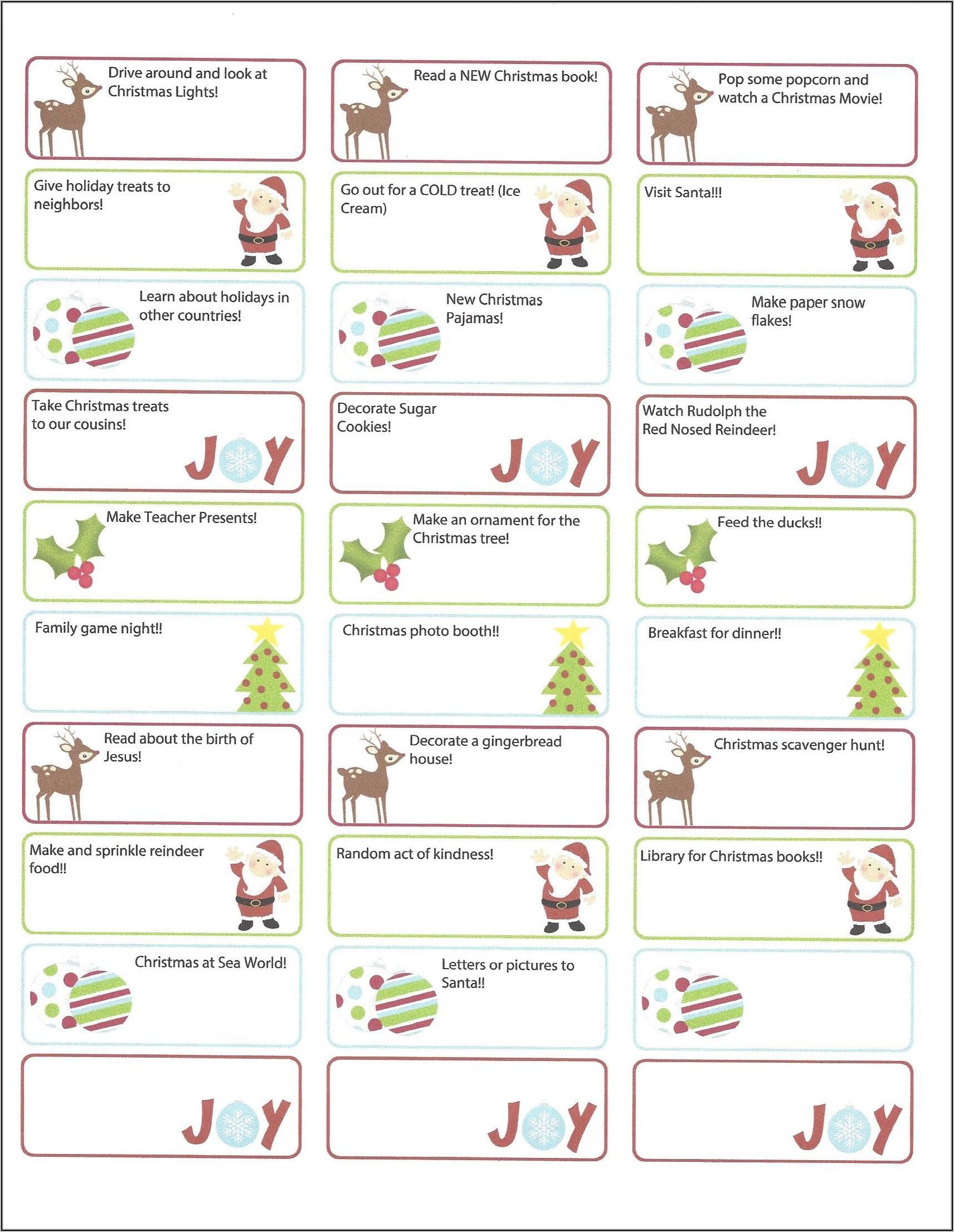 Free Christmas Return Address Label Templates