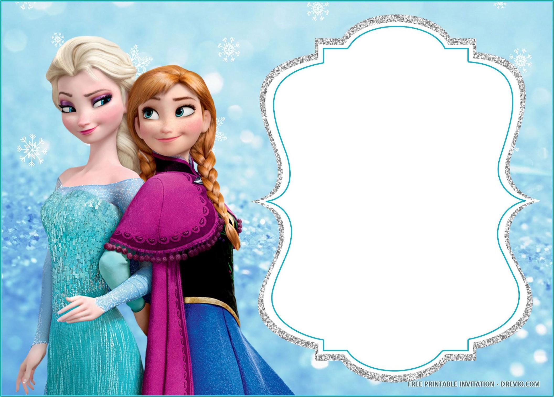 Free Downloadable Frozen Birthday Invitations