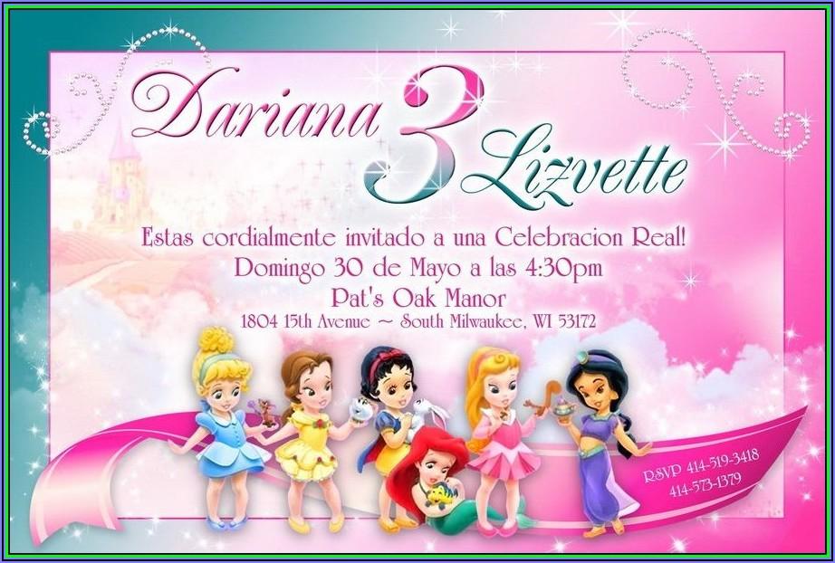 Free Editable Disney Princess Invitations