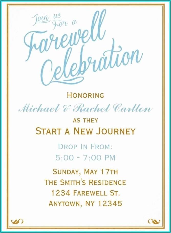 Free Editable Farewell Invitation Template