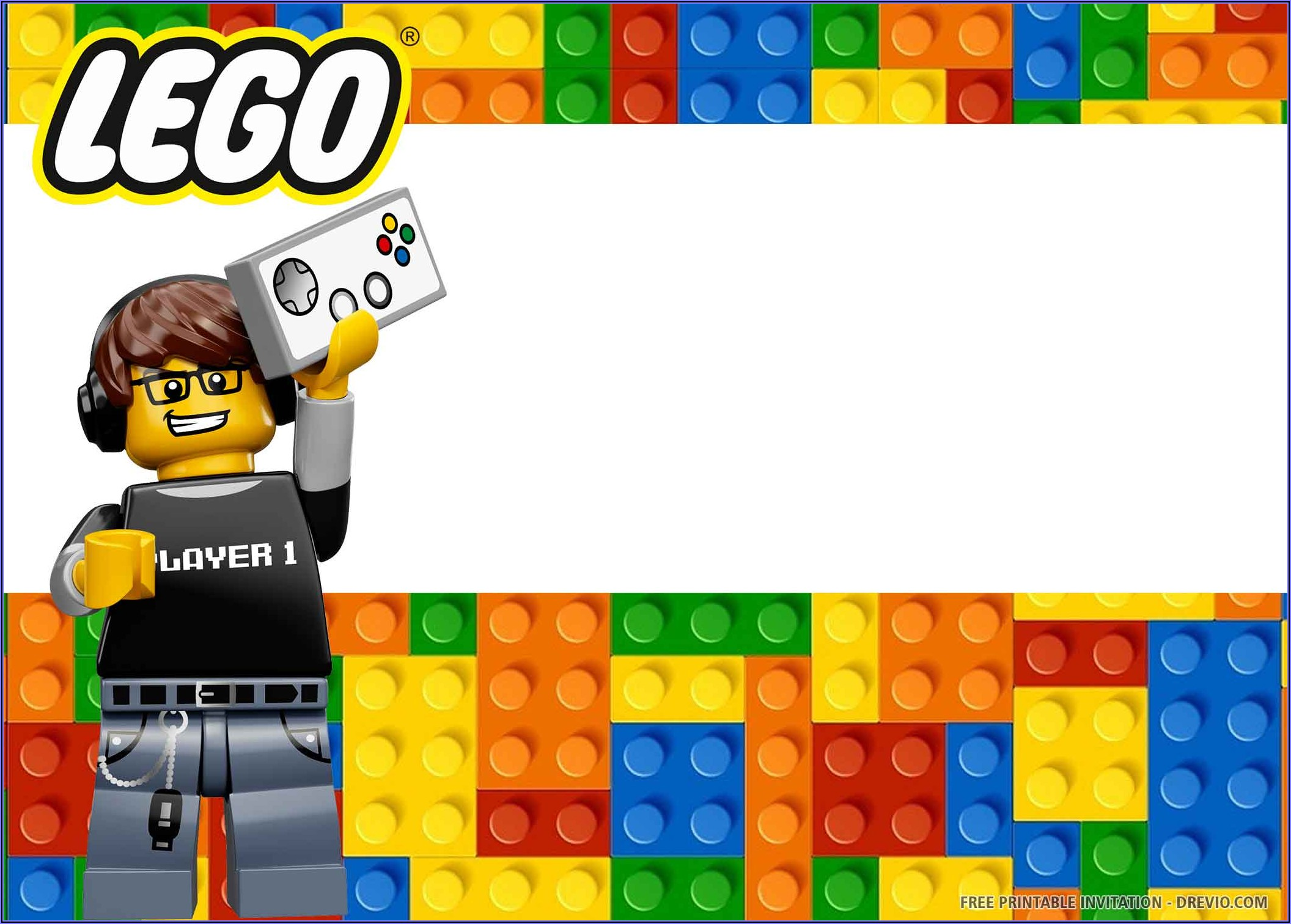 Free Editable Lego Birthday Invitations