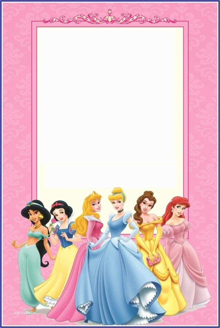 Free Editable Princess Party Invitations