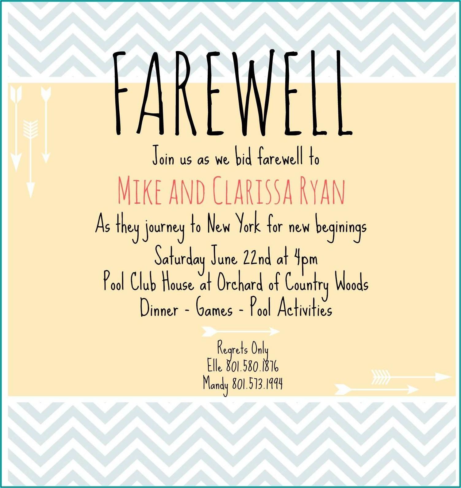 Free Farewell Invitation Template Photoshop