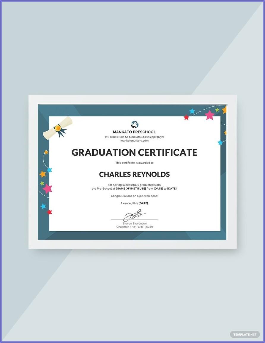 Free Graduation Certificate Template Psd