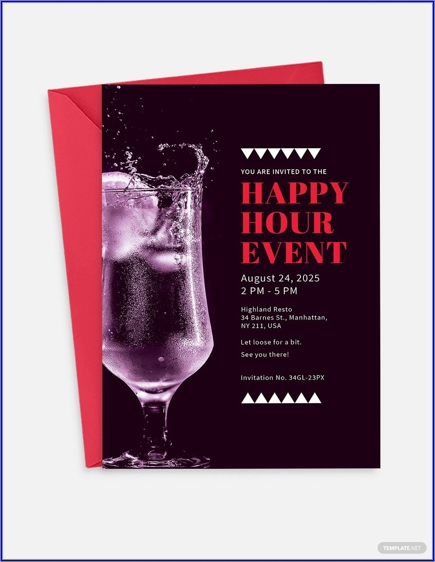 Free Happy Hour Invitation Template Word