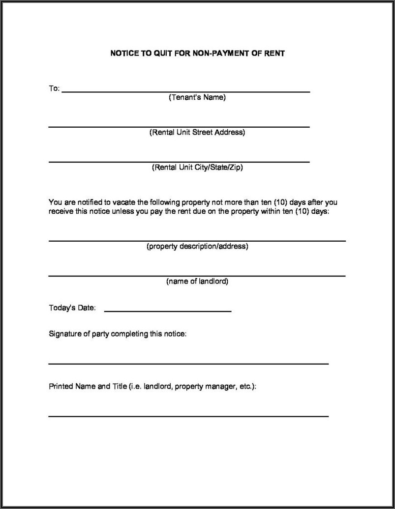 Free Indiana Eviction Notice Form