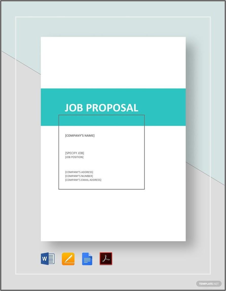 Free Job Proposal Template Pdf