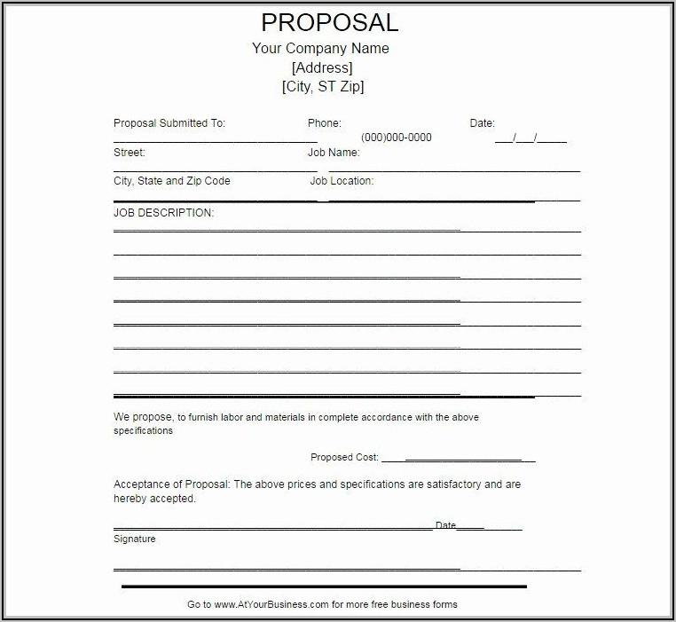 Free Job Proposal Template