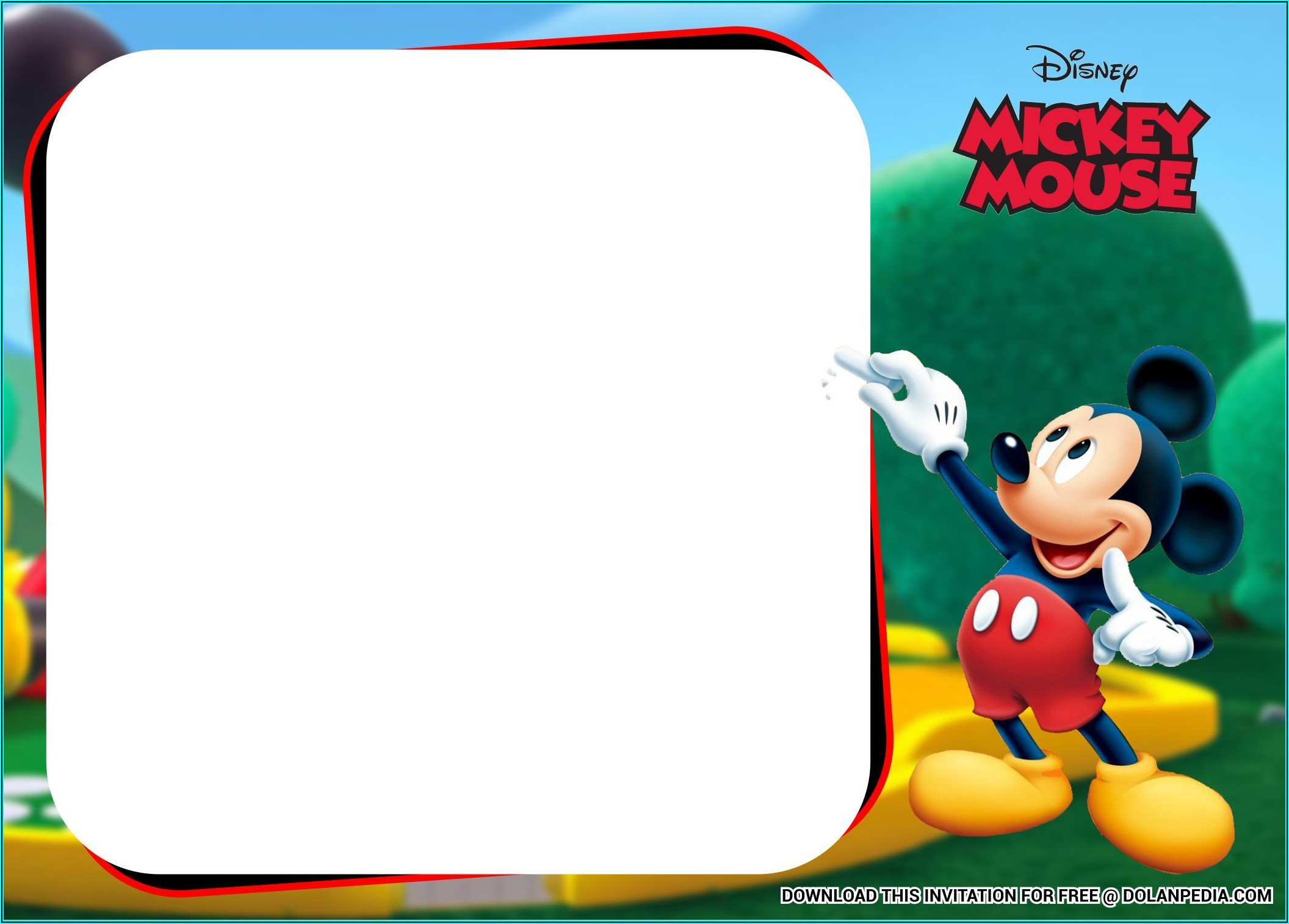 Free Mickey Mouse Birthday Party Invitation Templates