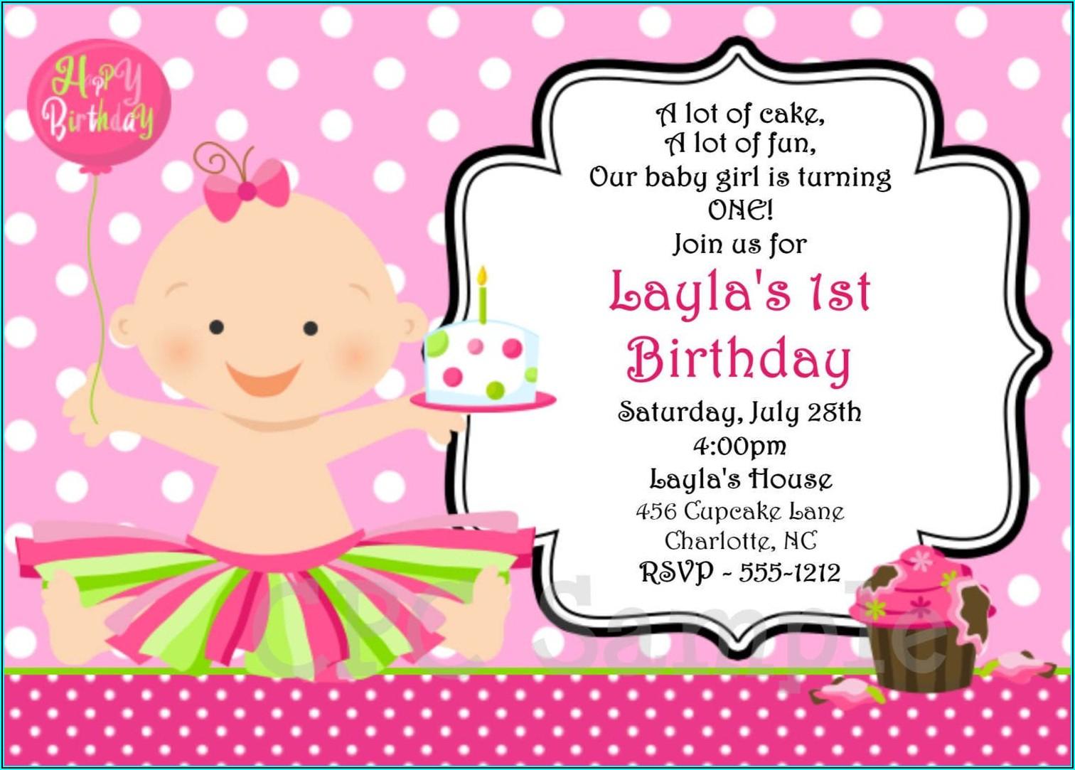 Free Online Birthday Invitation Card Design