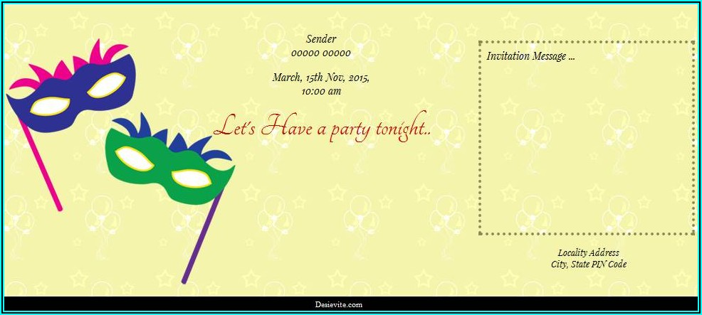 Free Online Birthday Invitation Card Maker With Photo