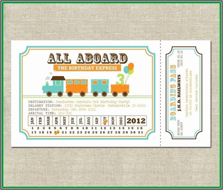 Free Polar Express Train Ticket Template