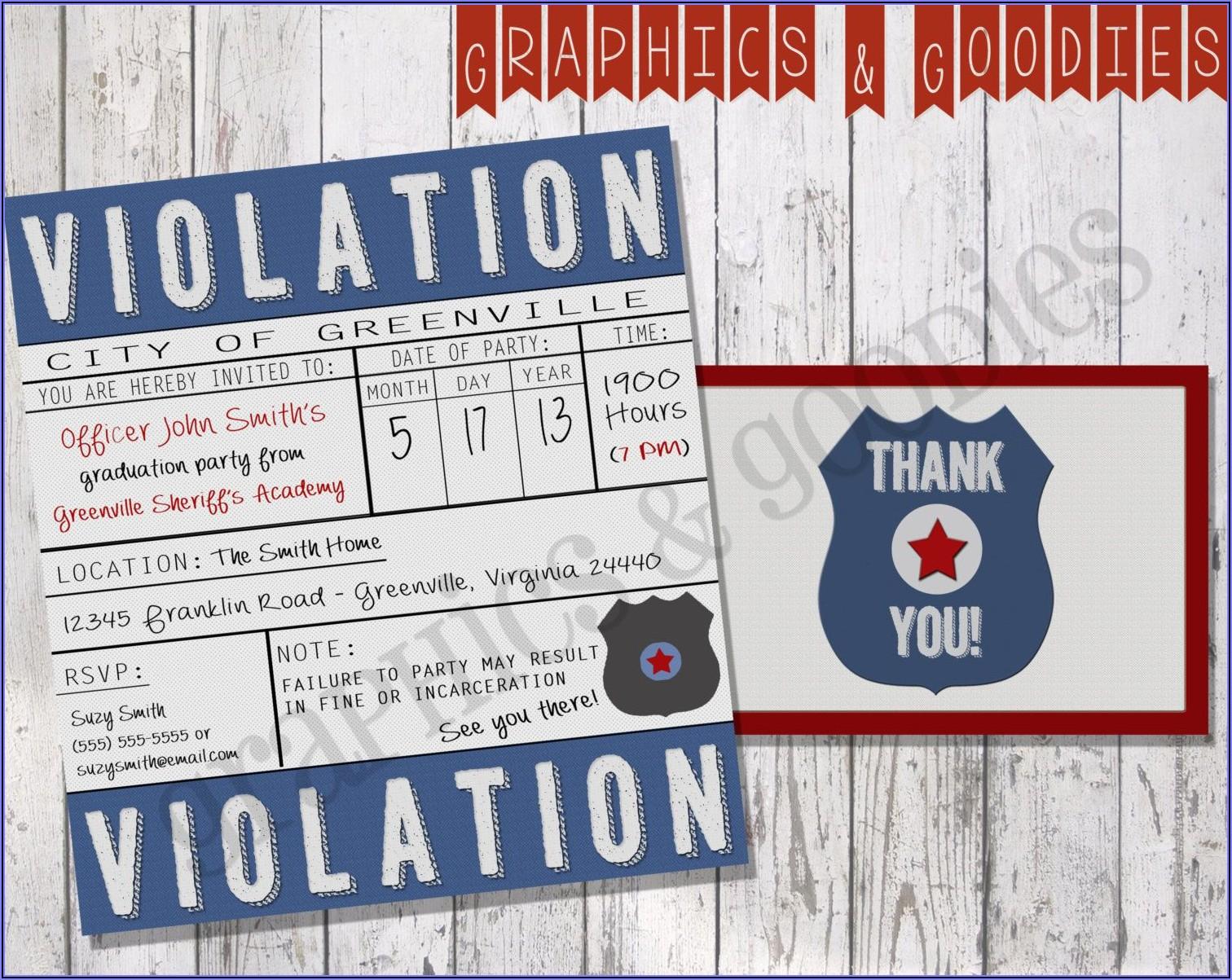 Free Police Retirement Invitation Template