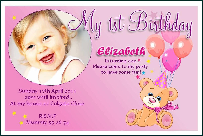 Free Printable Birthday Card Invitation Template