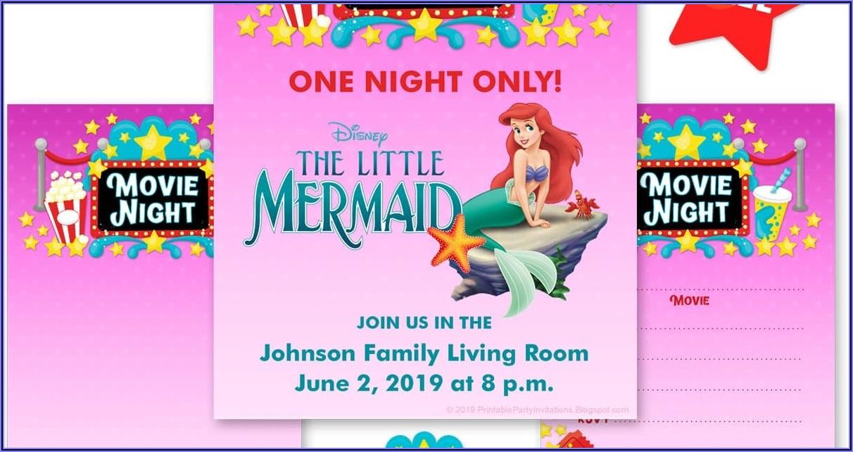 Free Printable Blank Mermaid Birthday Invitations