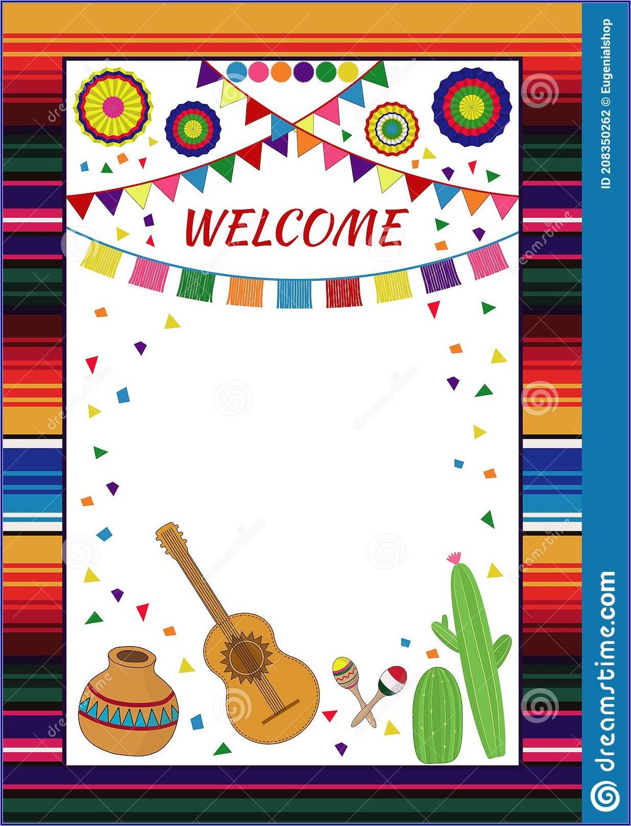Free Printable Blank Mexican Fiesta Invitations