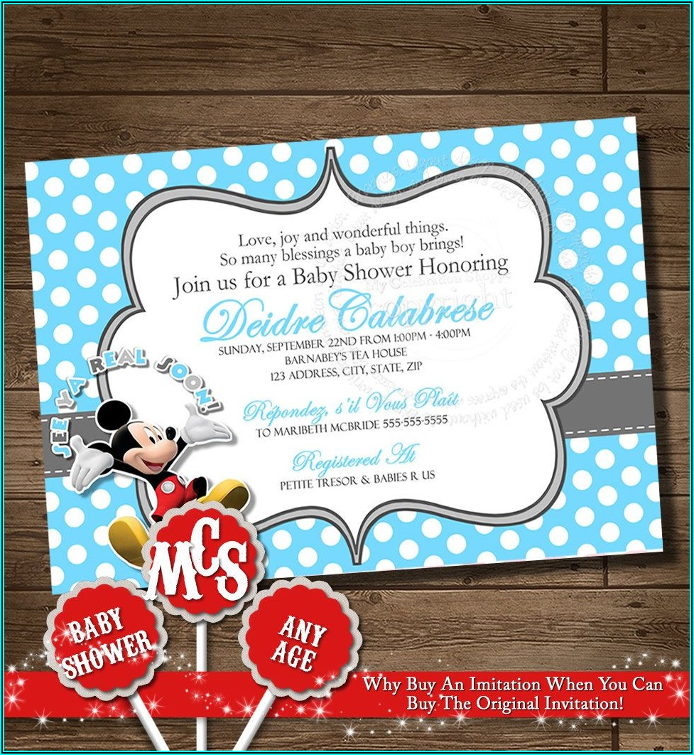 Free Printable Blank Mickey Mouse Invitations
