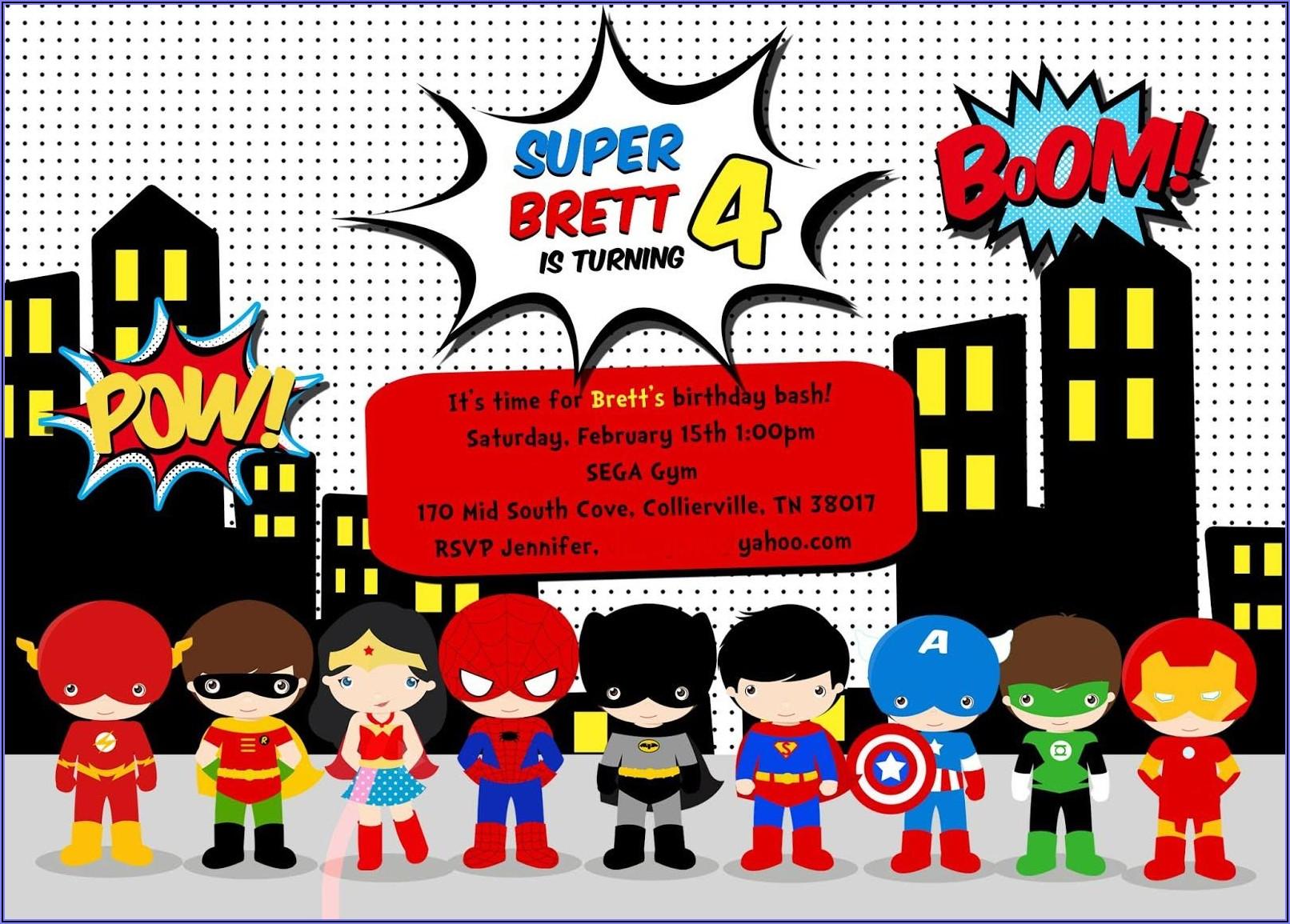 Free Printable Free Editable Superhero Invitations