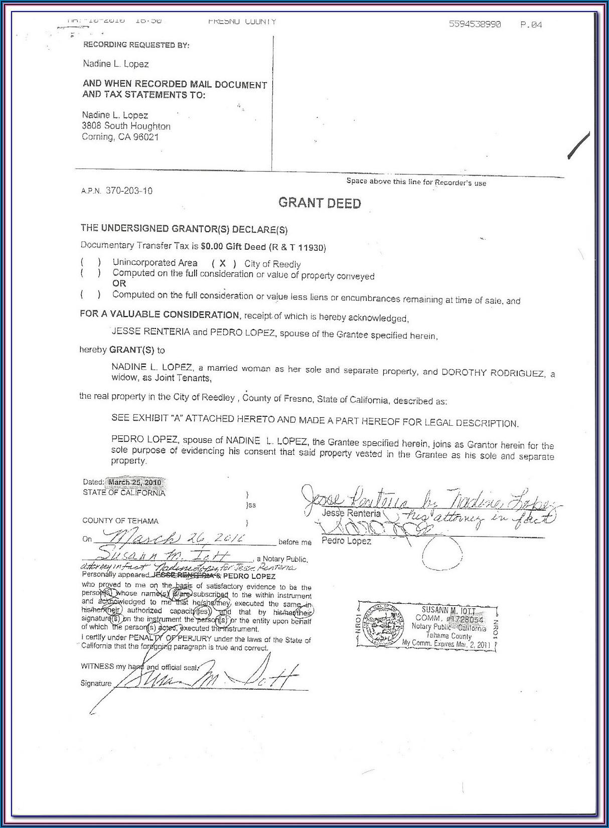 Free Printable Grant Deed Form