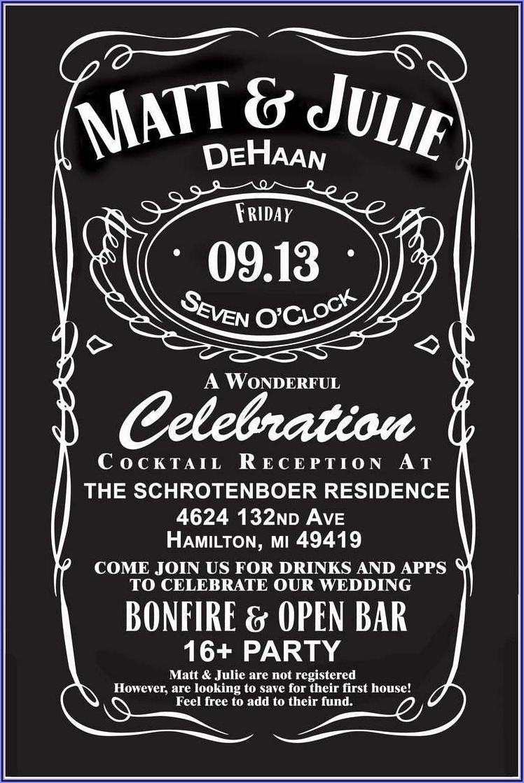 Free Printable Jack Daniels Birthday Invitation Template