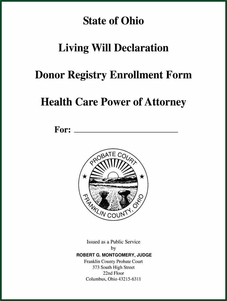 Free Printable Living Will Forms Ohio