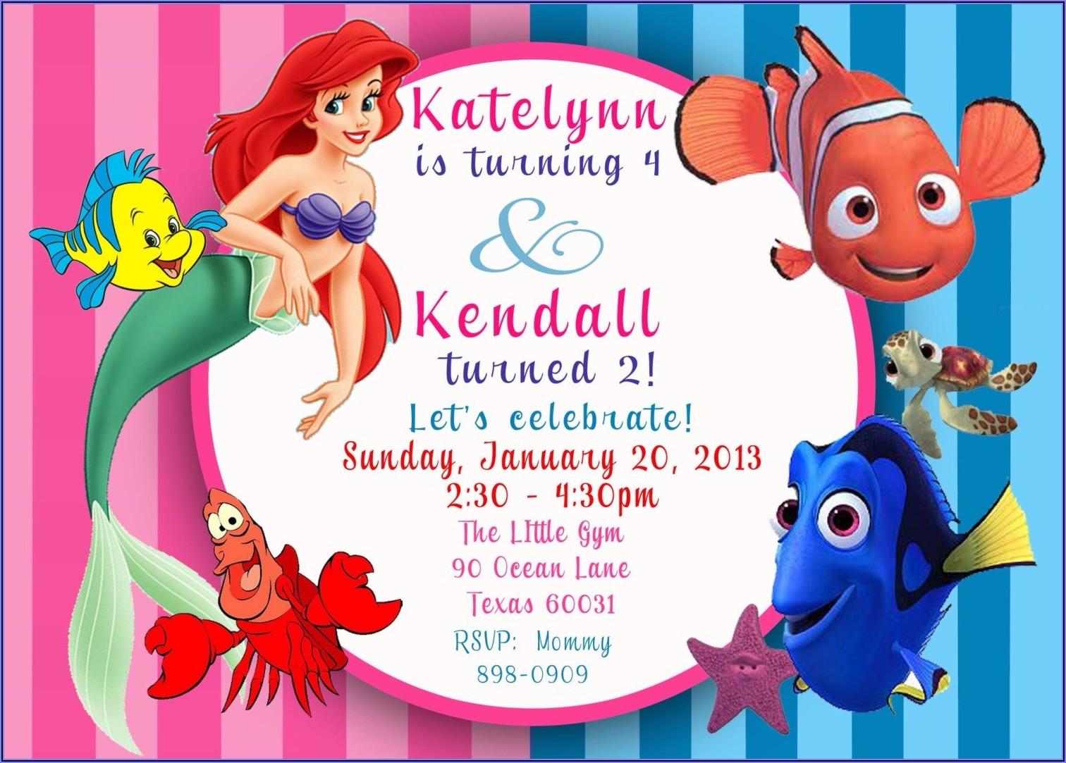 Free Printable Mermaid Birthday Invitations