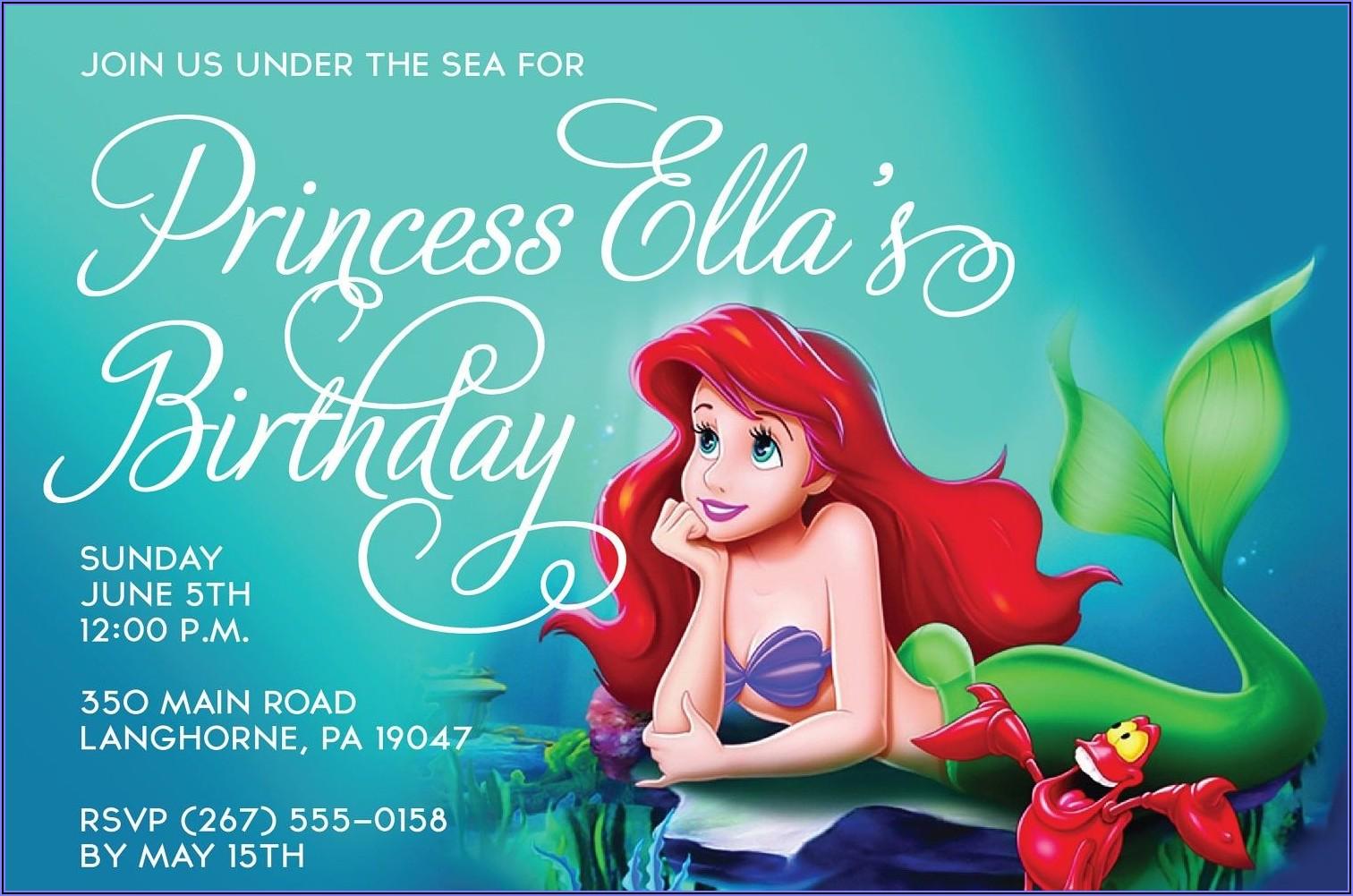 Free Printable Mermaid Invitations