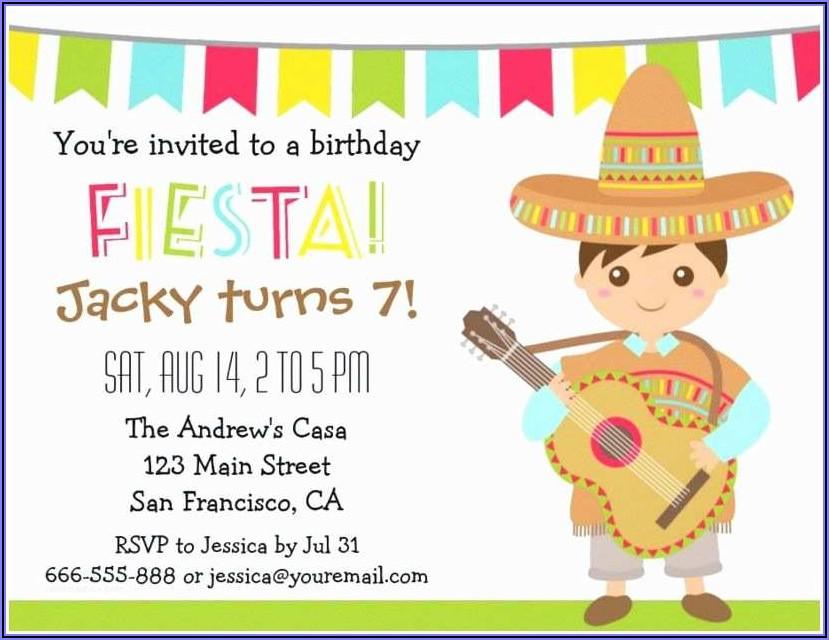 Free Printable Mexican Fiesta Invitations
