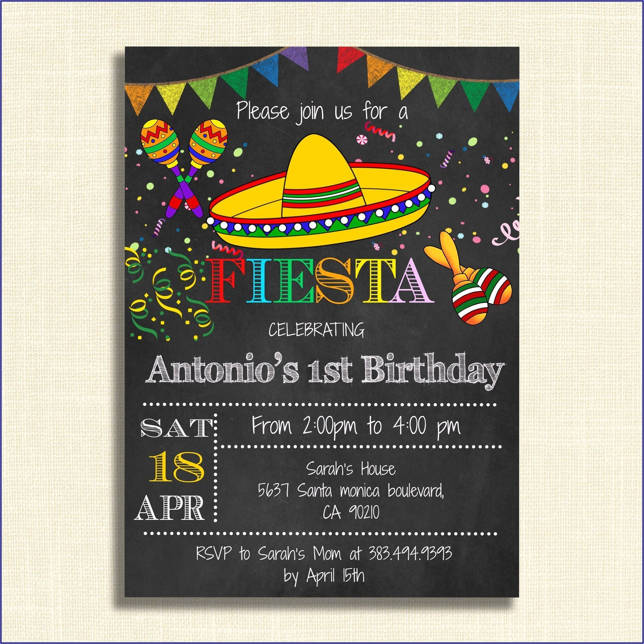 Free Printable Mexican Party Invitations