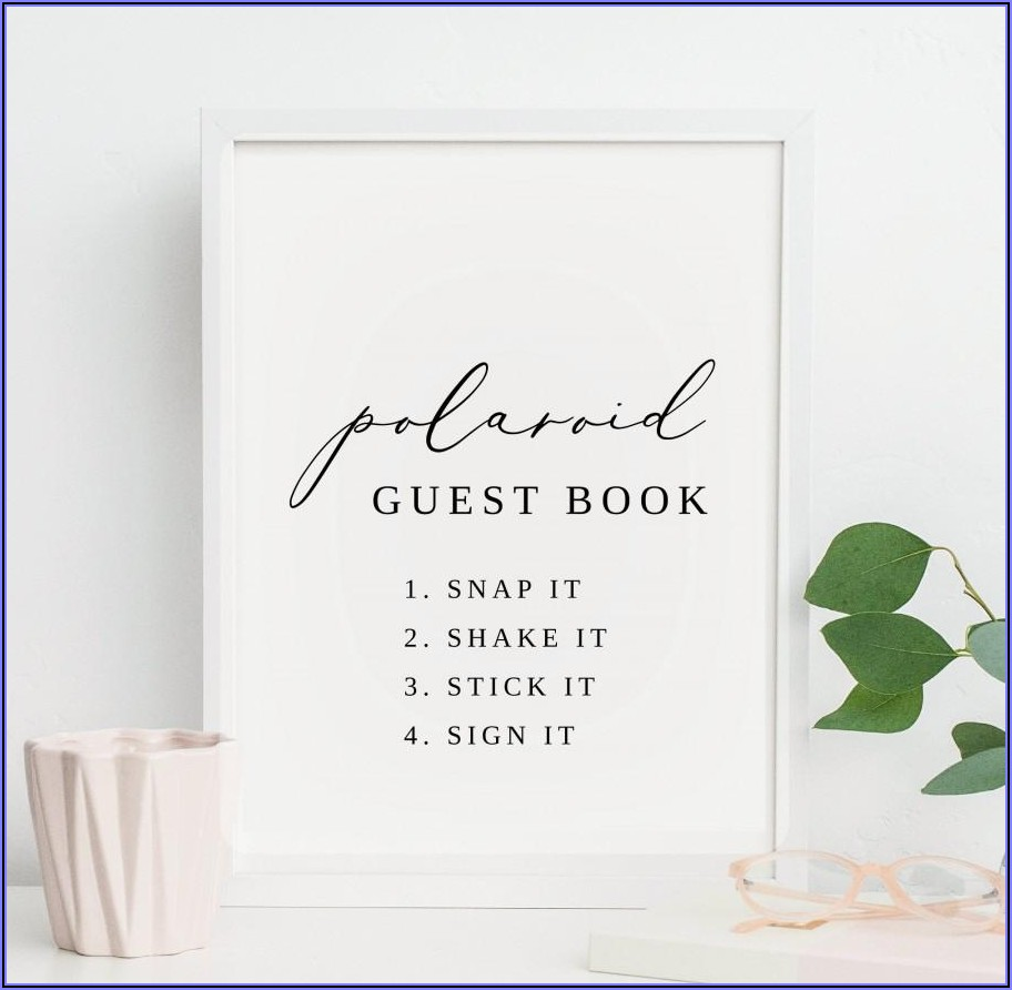 Free Printable Polaroid Guest Book Sign Template