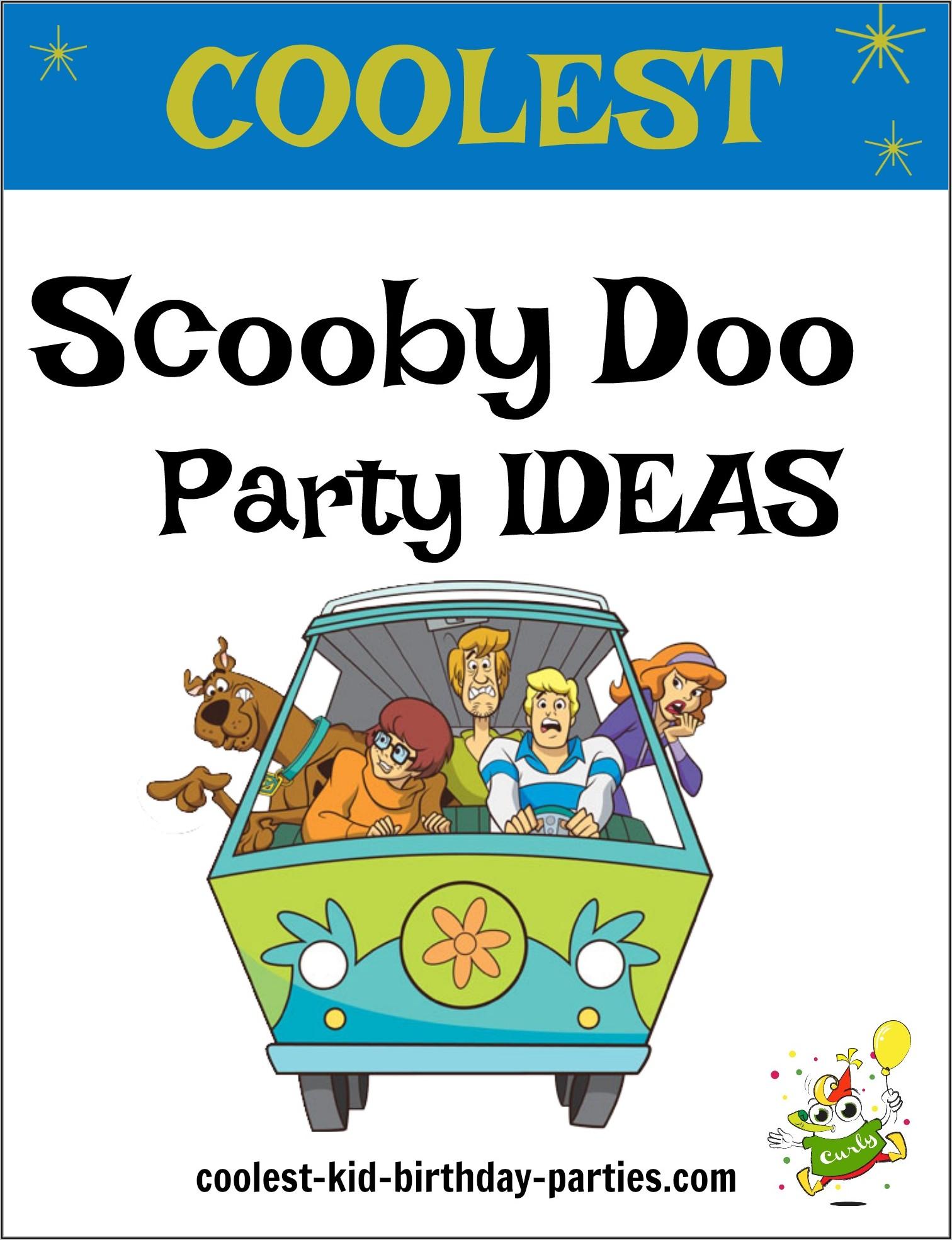 Free Printable Scooby Doo Birthday Invitation Template