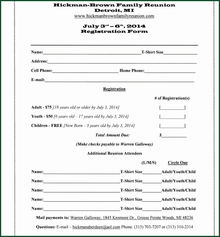 Free Printable T Shirt Order Forms