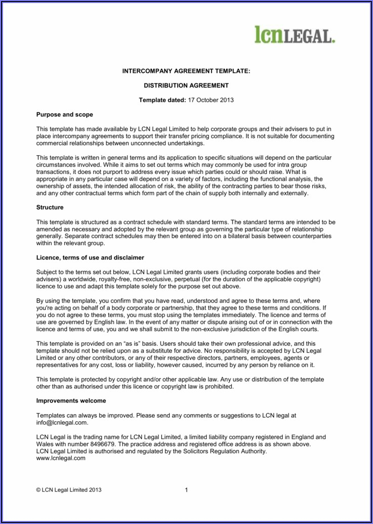 Free Transfer Pricing Policy Template