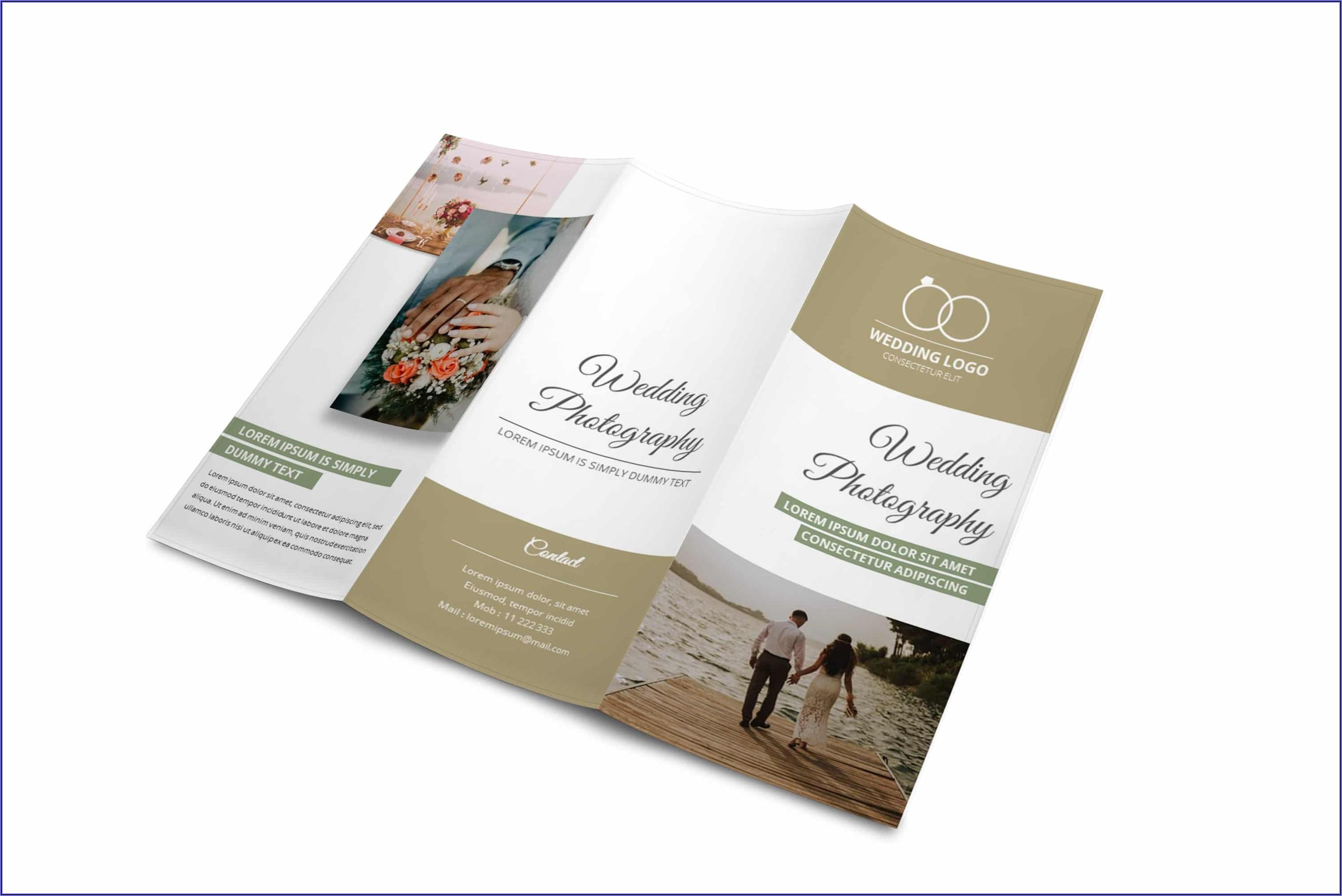 Free Tri Fold Wedding Brochure Templates
