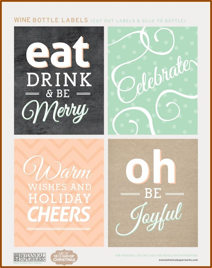 Free Wine Bottle Gift Tags Template