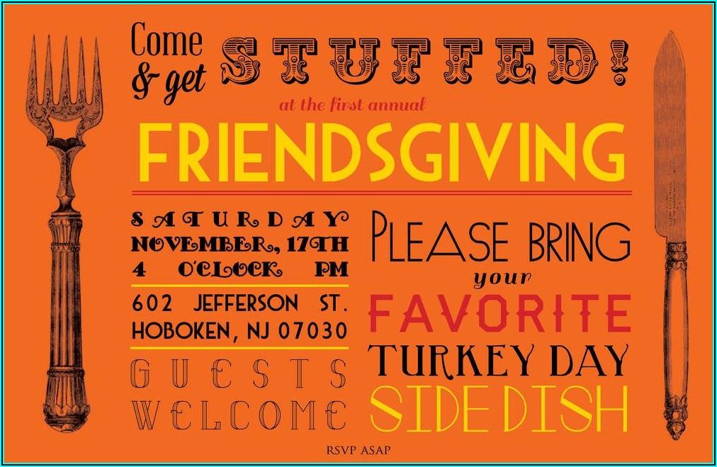 Friendsgiving Invite Wording Funny