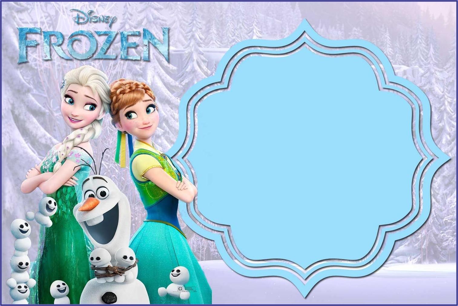 Frozen Invitation Card Maker Free Download