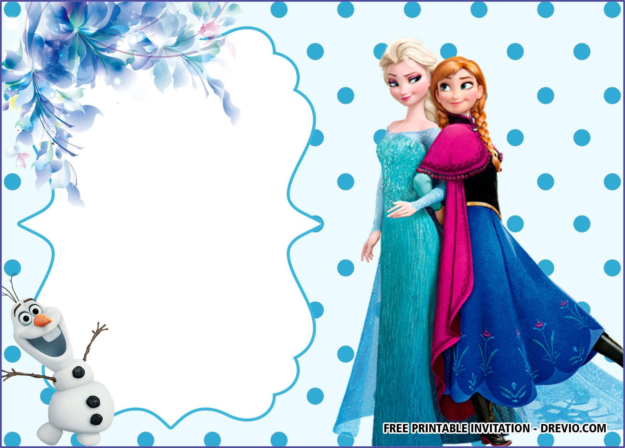 Frozen Invitation Card Template Free Download