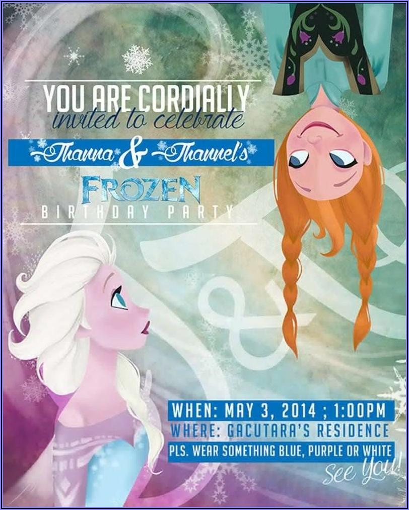 Frozen Invitation Template Download