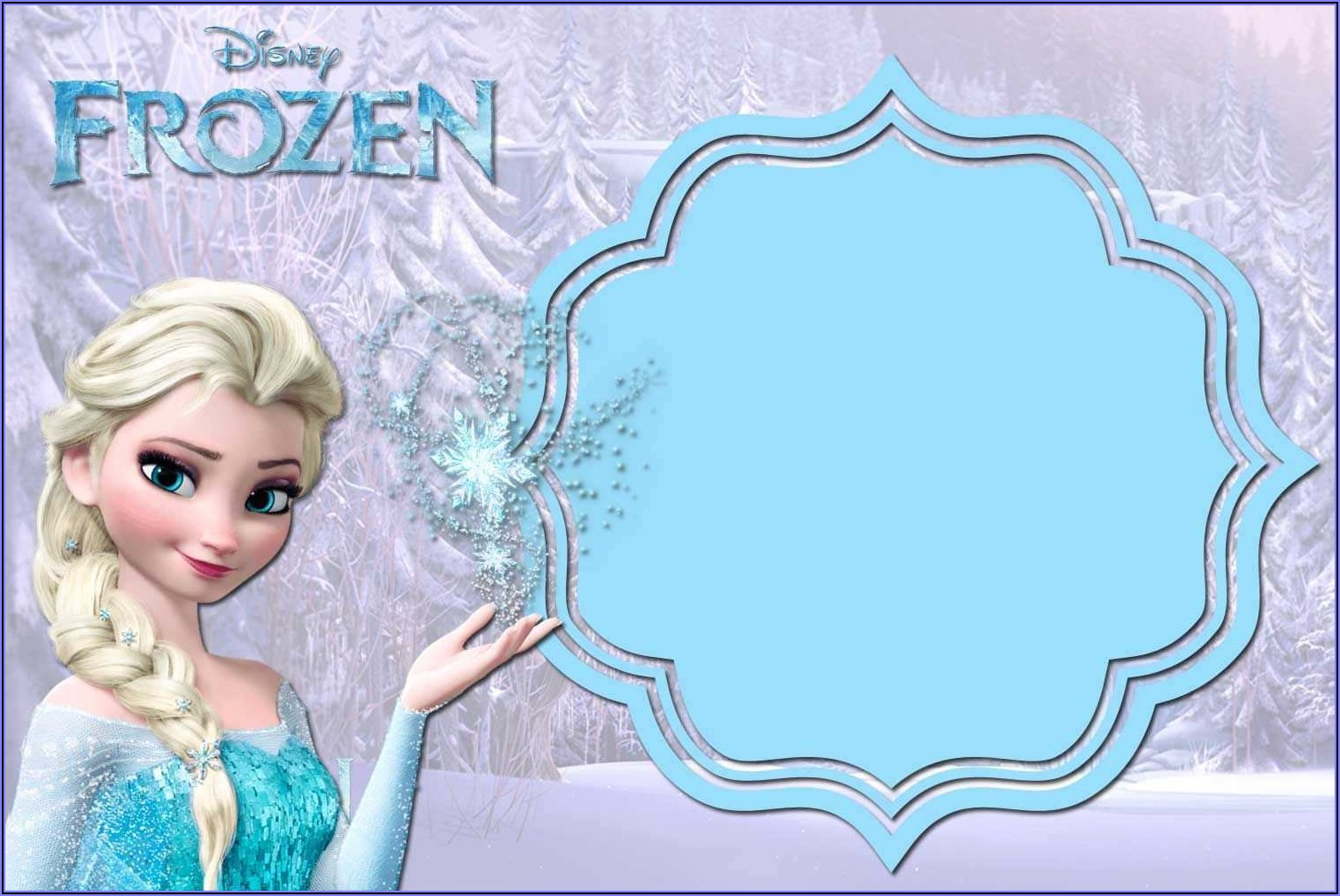 Frozen Party Invitation Template Download