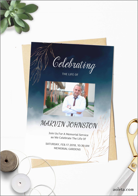 Funeral Memorial Card Template